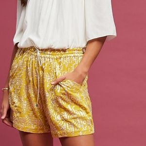 Anthropologie Elevenses Melora Embroidered Shorts